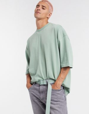 ASOS DESIGN oversized heavyweight t-shirt in green