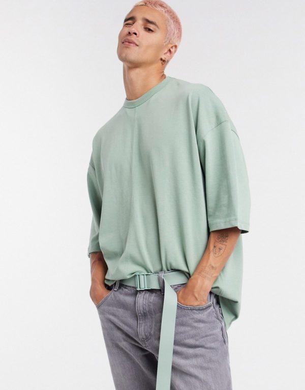 ASOS DESIGN oversized heavyweight t-shirt in green