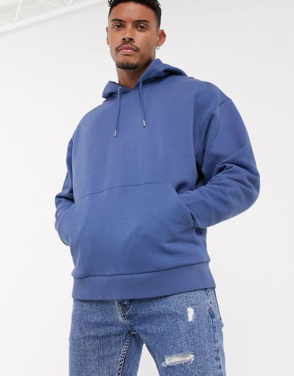 ASOS DESIGN oversized hoodie in blue