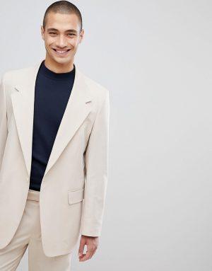 ASOS DESIGN oversized suit jacket in stone