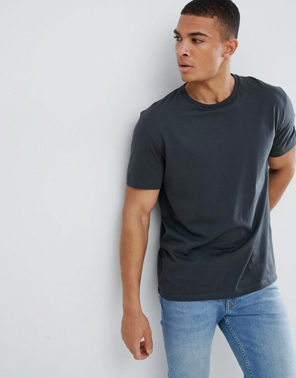 ASOS DESIGN relaxed fit t-shirt in dark blue