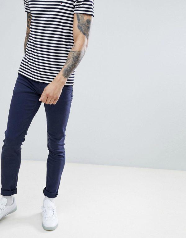 ASOS DESIGN skinny jeans in navy