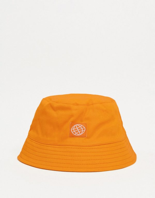 ASOS Day Social bucket hat in bright orange