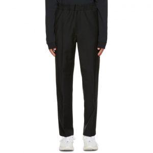 Acne Studios Black Wool and Mohair Elastic Waist Trousers