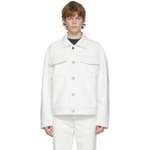 Acne Studios Off-White Canvas Jacket