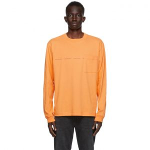 Acne Studios Orange Logo Long Sleeve T-Shirt
