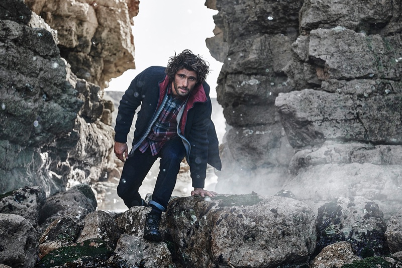 Alex Libby sports a maritime-inspired look from Barbour's fall-winter 2020 collection.