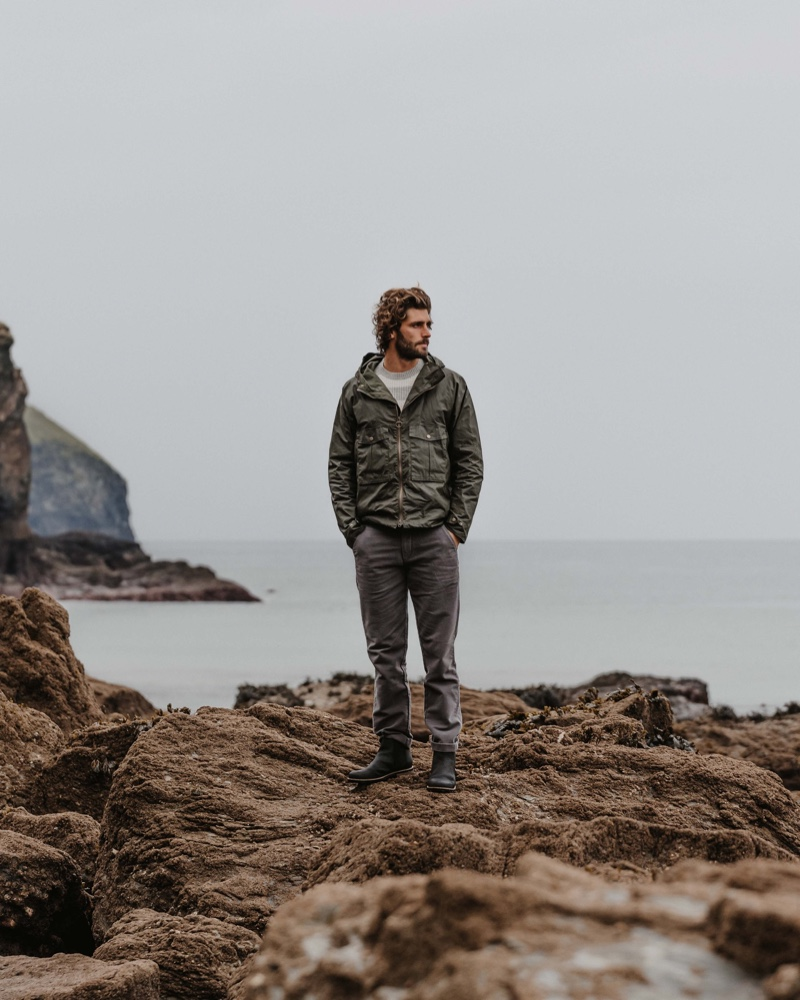 Barbour enlists Alex Libby to front one of its stylish fall-winter 2020 outings.