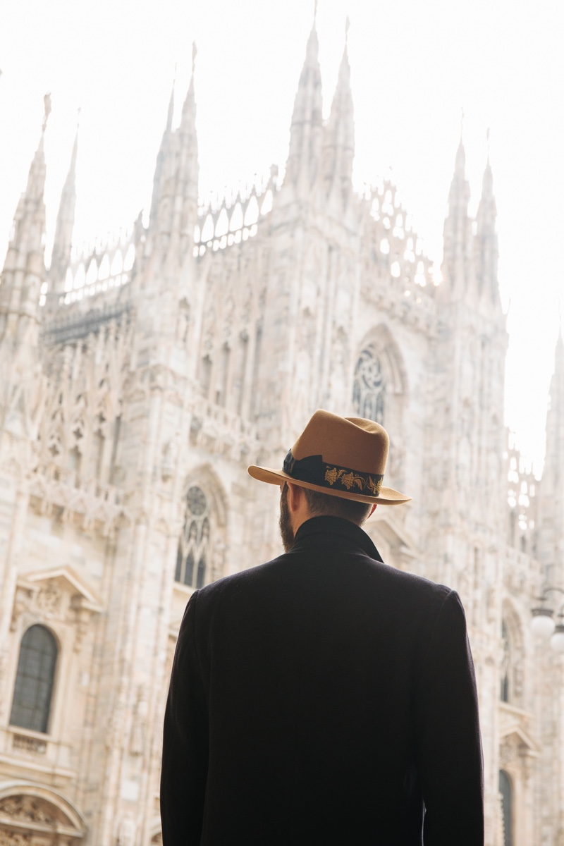 Riccardo Rolandi photographs Simone Coriddi in the Bogart by Borsalino Cut 5 hat.