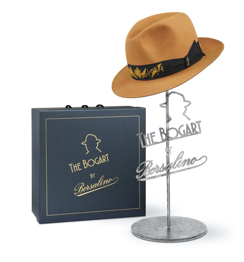 Bogart by Borsalino Cut 5 hat and box photographed by Paolo Bernardotti