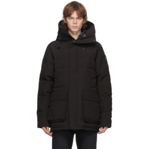 Canada Goose Black Down Black Label Wedgemount Parka