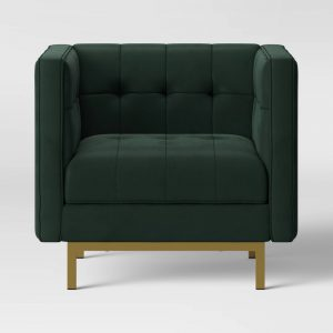 Cologne Tufted Track Armchair Emerald Green - Project 62