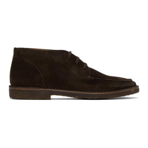 Drakes Brown Crosby Moc Toe Chukka Boots