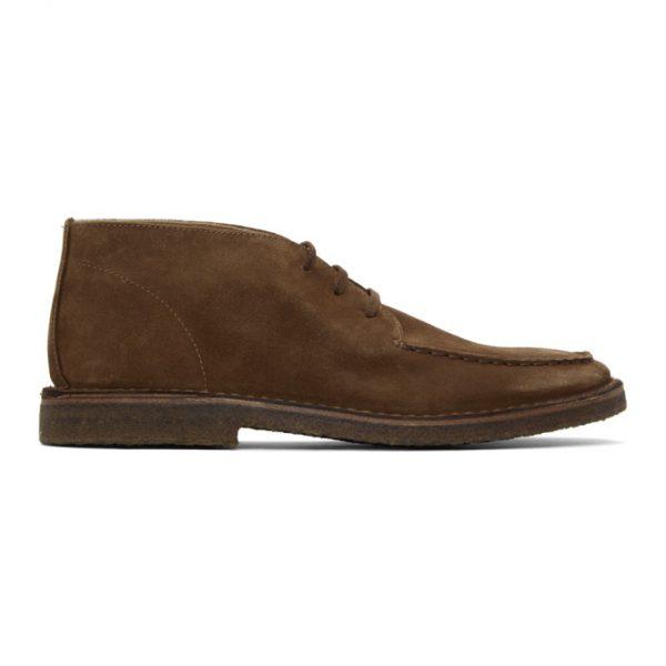 Drakes Tan Crosby Moc Toe Chukka Boots
