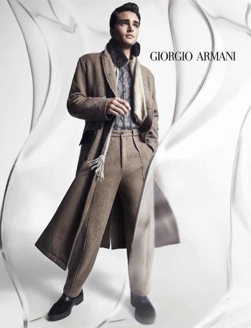 Pepe Barroso stars in Giorgio Armani's fall-winter 2020 campaign.