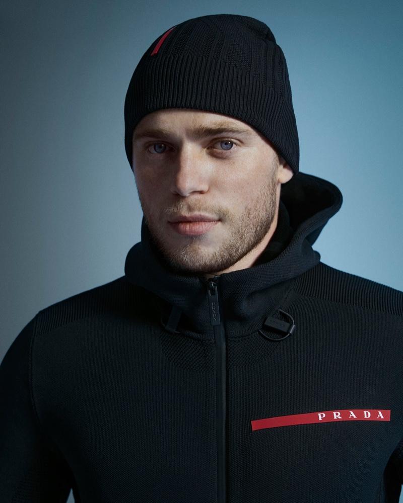 Gus Kenworthy Goes Sporty in Prada Linea Rossa Campaign