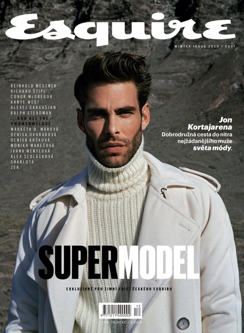 Jon Steps Outdoors for Esquire Czech Cover Shoot