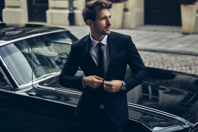 Male Model in Sharp Suit