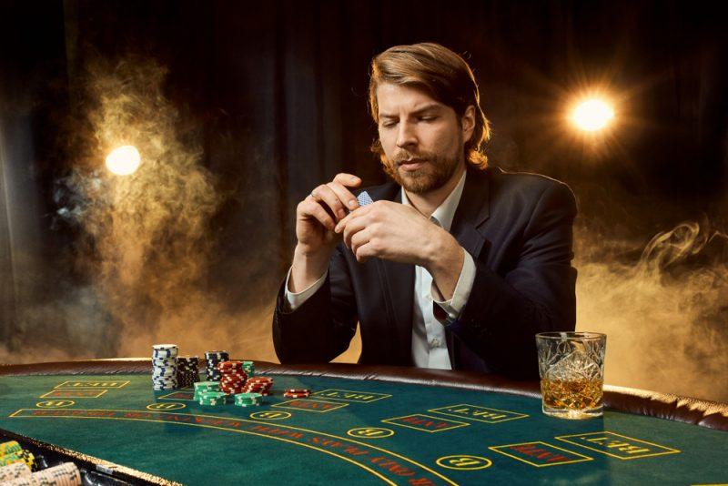 Man Playing Black Jack