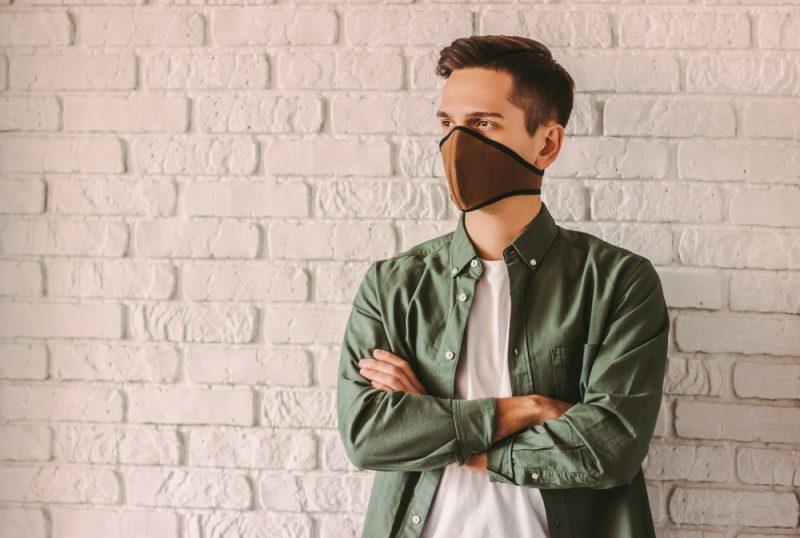 Man in Stylish Face Mask