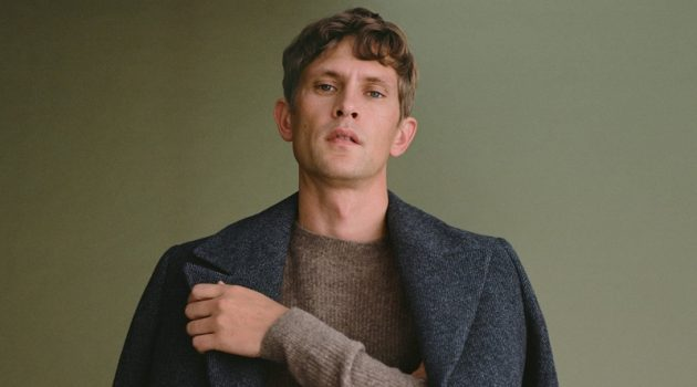 Mathias Lauridsen layers in fall-winter 2020 styles from Mango.
