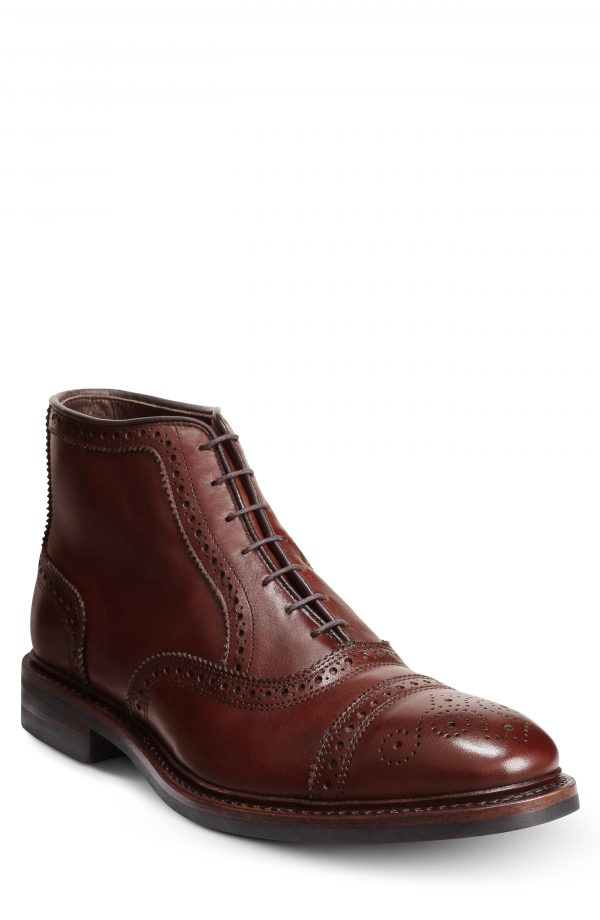 Men's Allen Edmonds Hamilton Wingtip Waterproof Chukka Boot, Size 10.5 EEE - Brown