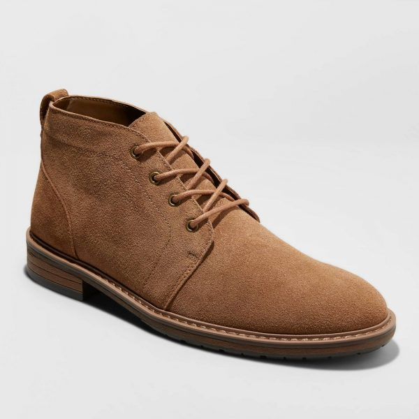 Men's Brantley Genuine Leather Chukka Boots - Goodfellow & Co Brown 9.5