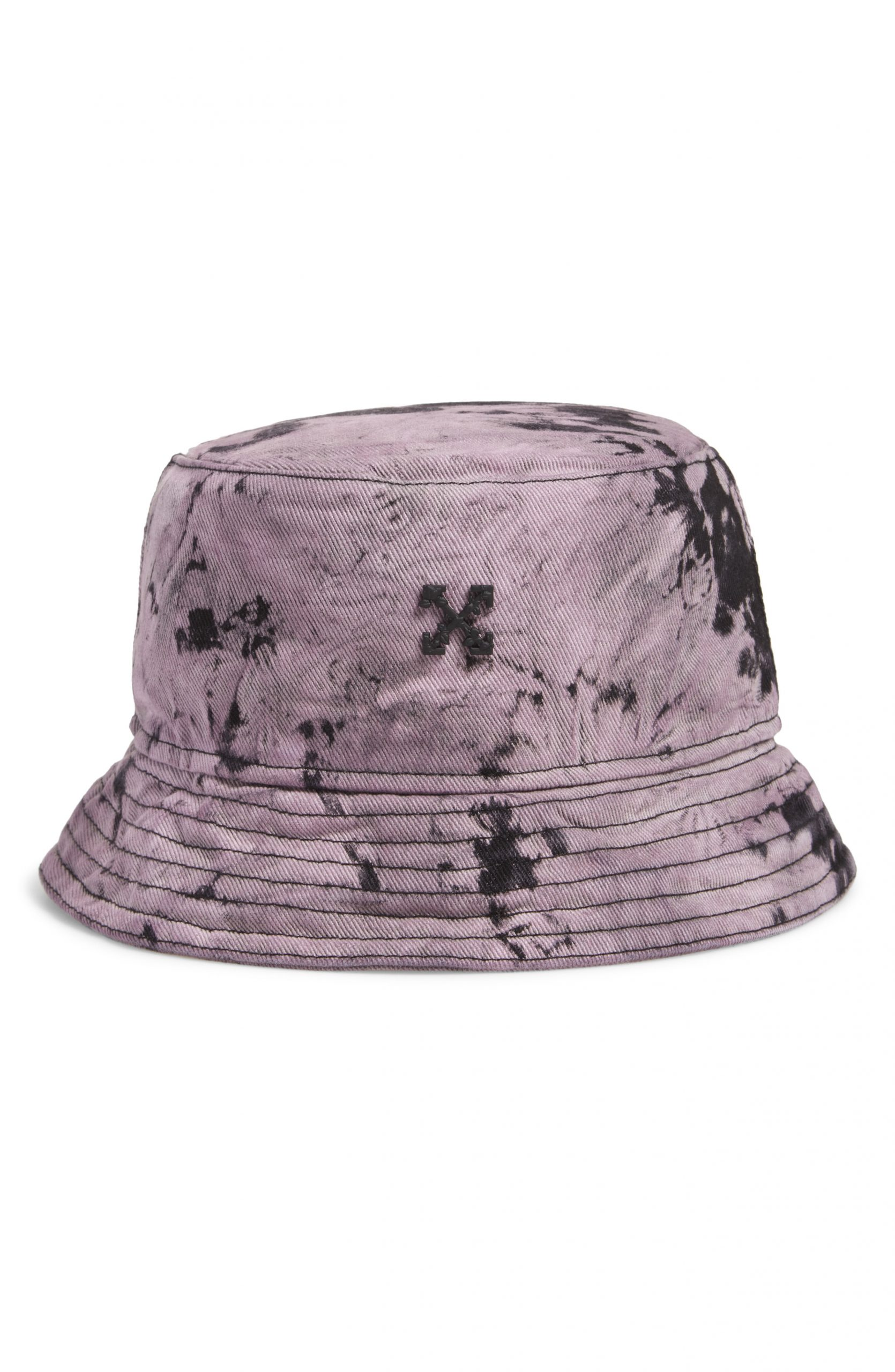 Men S Off White Tie Dye Cotton Denim Bucket Hat The Fashionisto