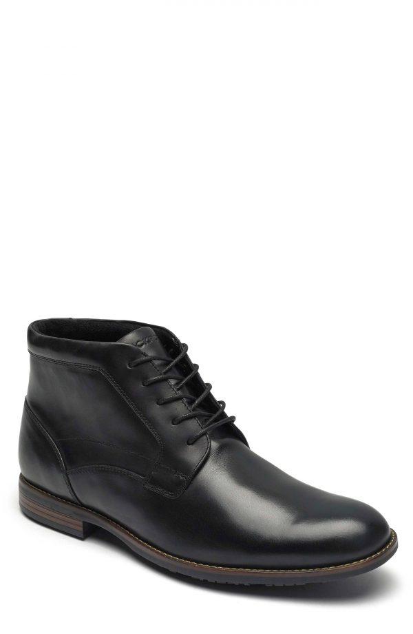 Men's Rockport Dustyn Waterproof Chukka Boot, Size 13 M - Black