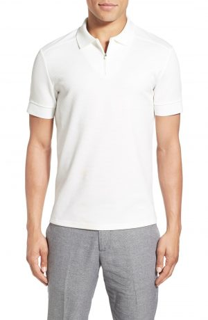 Men's Vince Camuto Slim Fit Mesh Polo, Size X-Large - White