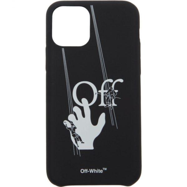 Off-White Black Hand Paint iPhone 11 Pro Case