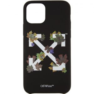 Off-White Black Leaves iPhone 11 Pro Case