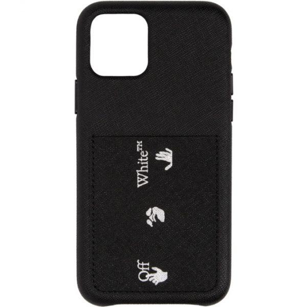 Off-White Black Saffiano iPhone 11 Pro Case