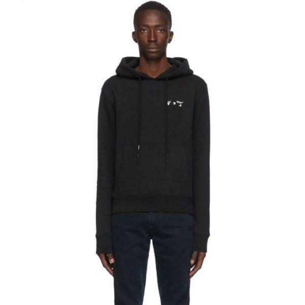 Off-White Black Small Logo Slim Hoodie