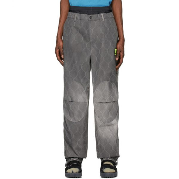 Off-White Grey Fence Extended Chino Trousers