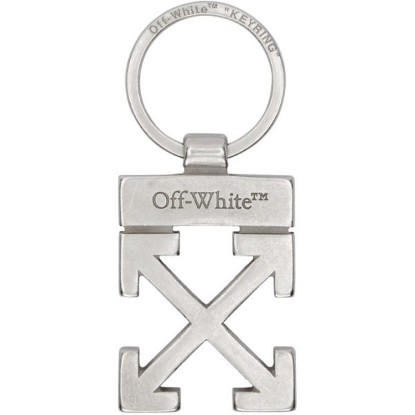 Off-White Silver Arrows Keychain