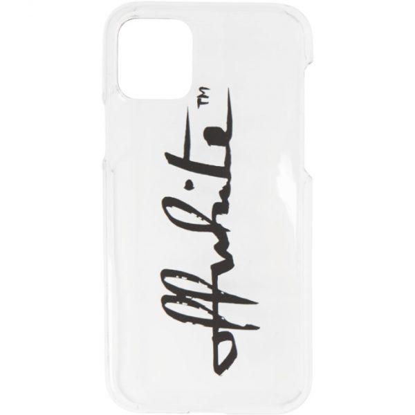 Off-White Transparent Logo iPhone 11 Pro Case