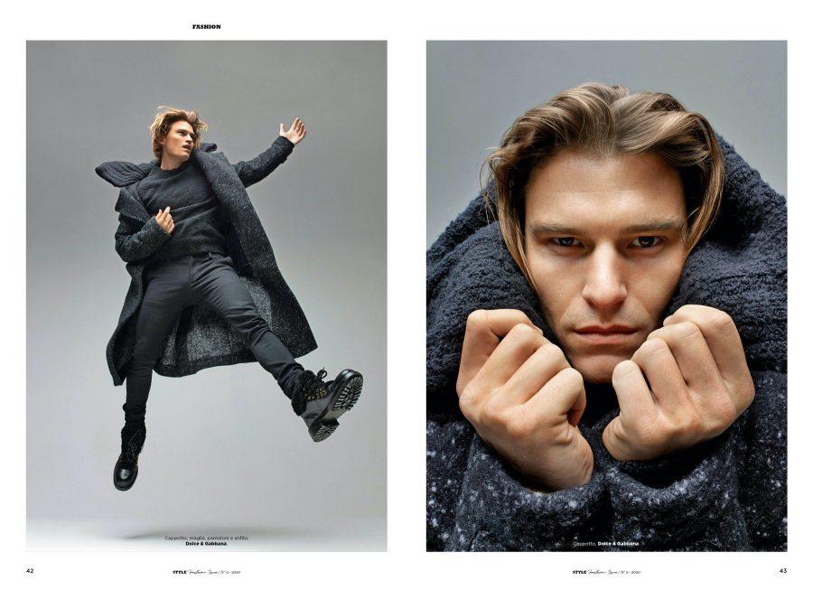 The Smart Direction: Oliver Stars in Corriere della Sera Style Cover Shoot