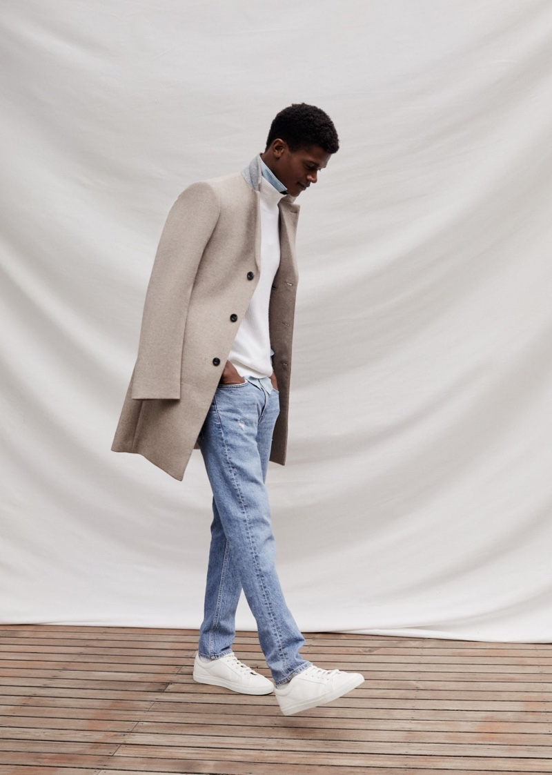O'Shea Dons Coats & More for Reiss Winter '20 Campaign