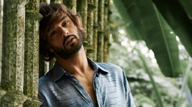 Marlon Teixeira fronts Roberto Cavalli's Paradise Found fragrance campaign.