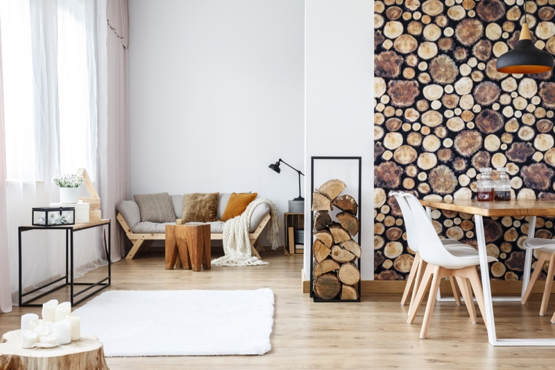Rustic Home Decor Wooden Wall