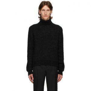 Saint Laurent Black Cashmere and Wool Turtleneck