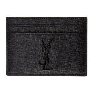 Saint Laurent Black Monogramme Card Holder