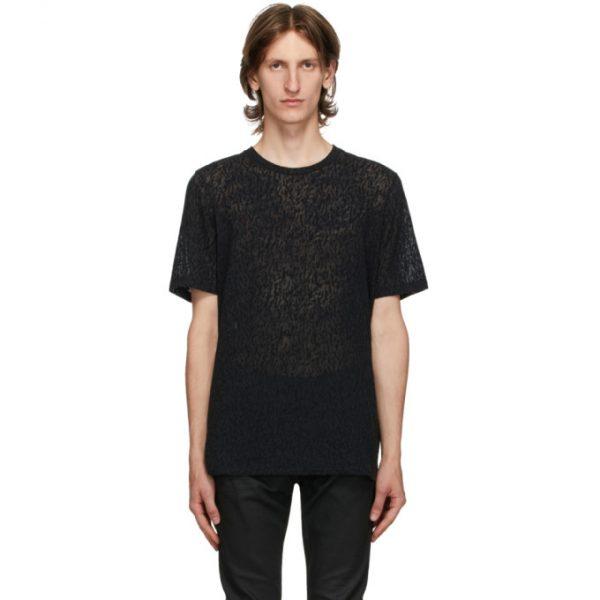 Saint Laurent Black Round Neck T-Shirt