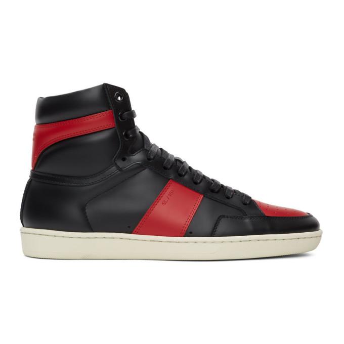 Saint Laurent Black and Red Court