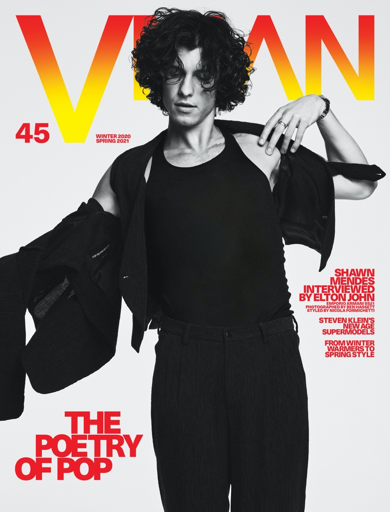 Shawn Mendes covers the 45th issue of VMAN magazine.