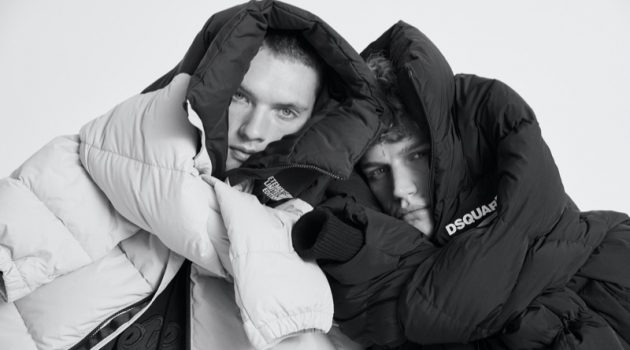 Models William Los and Timo Baumann star in Stylebop's fall-winter 2020 Studio campaign.