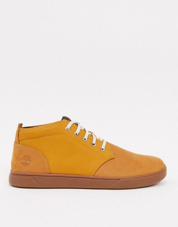 Timberland leather bayham chukka boots in wheat-Tan