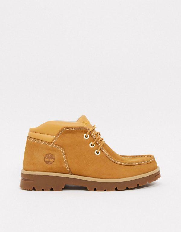 Timberland leather newtonbrook chukka boots in wheat-Tan