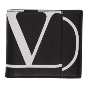 Valentino Black Valentino Garavani VLogo Wallet